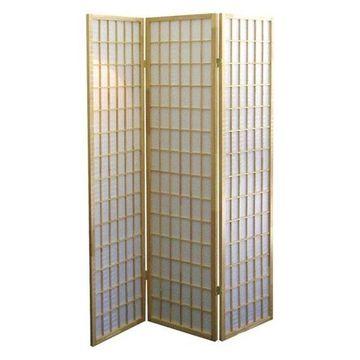 Ore International 3-Panel Room Divider, Natural