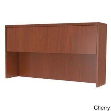 Mayline Aberdeen 60-inch Hutch with Overhead Wood Doors (Cherry Finish - Cherry)