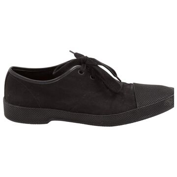 Prada Black Cloth Trainers