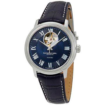 Raymond Weil Maestro Automatic Men's Leather Watch 2227-STC-00508