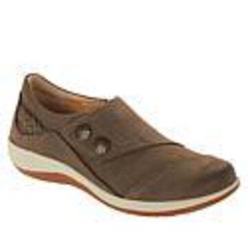 Aetrex Karina Leather Monk Strap Shoe - Brown