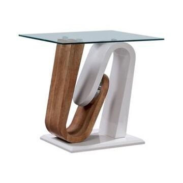 Furniture of America Amanon Pedestal Base End Table