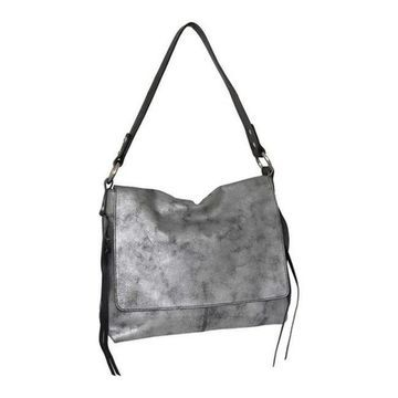 Nino Bossi Women's Freda Leather Shoulder Bag Pewter - US Women's One Size (Size None)