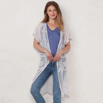 Women's LC Lauren Conrad Lace Vest Topper