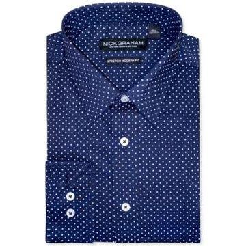 Nick Graham Men's Modern-Fit Pin-Dot Dress Shirt