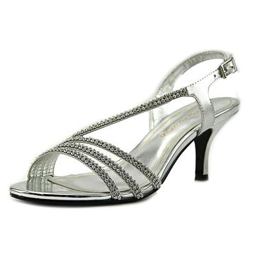 Caparros Womens BETHANY Open Toe Special Occasion, Silver Metallic, Size 6.0