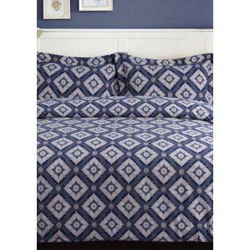 Tribeca Living Damask Flannel Oversized Duvet Set - -