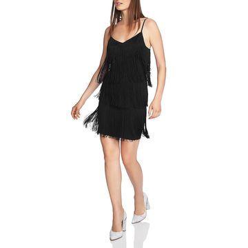 1.State Womens Fringe Mini Party Dress