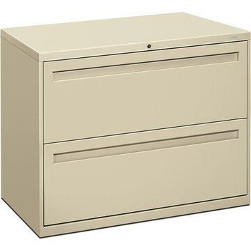 HON 2 Drawers Lateral Lockable Filing Cabinet, Putty