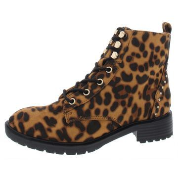 Material Girl Womens Modeliaf Ankle Boots Flat Combat Boots