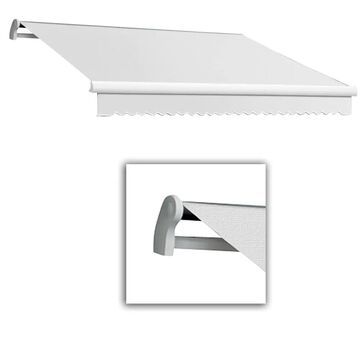 Awntech Maui 192-in Wide x 120-in Projection Off White Solid Motorized Retractable Patio Awning | MTL16-L-W