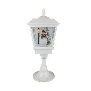 Northlight Seasonal Musical Table Top Christmas Street Lamp, White