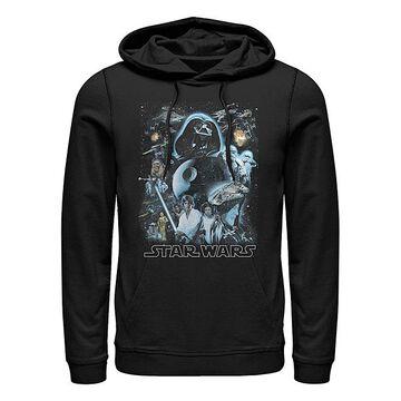 Fifth Sun Men's Sweatshirts and Hoodies BLACK - Star Wars Black Galaxy of Stars Hoodie - Men