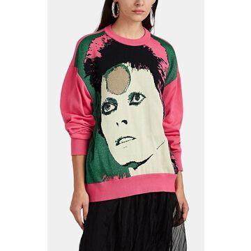 Undercover Ziggy Stardust-Pattern Wool-Blend Sweater