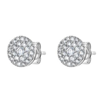 14K White Gold 1/2 ct. TDW Diamonds Earrings by Beverly Hills Charm