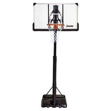 Franklin Sports Basketball Hoop - Authentic - Clear - Portable - Driveway - Street - 48