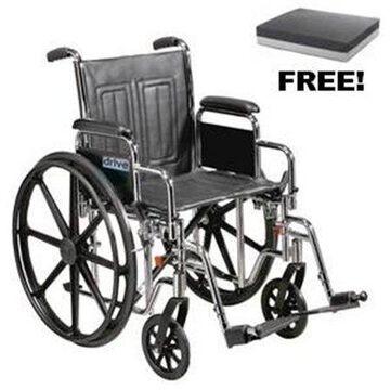 Drive Medical STD26ECDDA Bariatric Sentra EC Heavy Duty Extra Wide Wheelchair