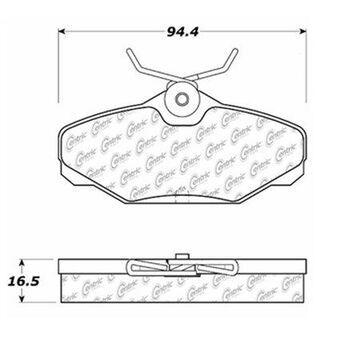 StopTech 104.06100 Disc Brake Pad; Posi-Quiet Metallic;