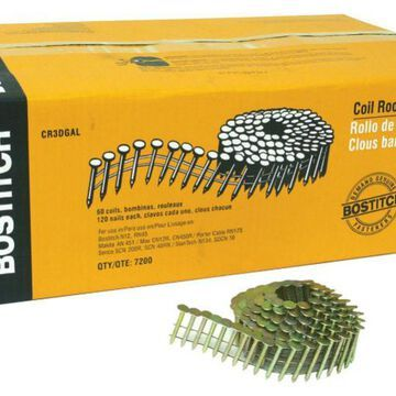 BostitchA CR3DGAL Galvanized 15A Coil Roofing Nails, 1-1/4