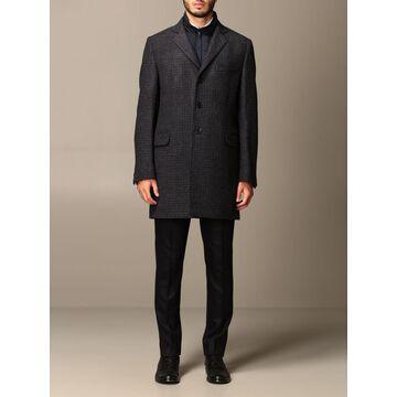 Fay Coat Benjamin Fay Houndstooth Wool Coat With Waistcoat