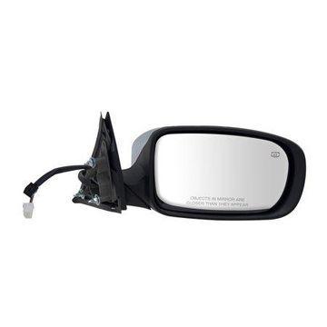 60605C - Fit System Passenger Side Mirror for 11-18 Chrysler 300 Sedan, Code GTR, textured black w/ chrome cover, foldaway, w/o memory, Heated Power