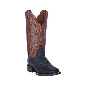 Dan Post Western Boots Womens Bowman Leather Fancy Stitch Tan