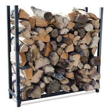 UniFlame 4-Foot Premium Log Rack in Black