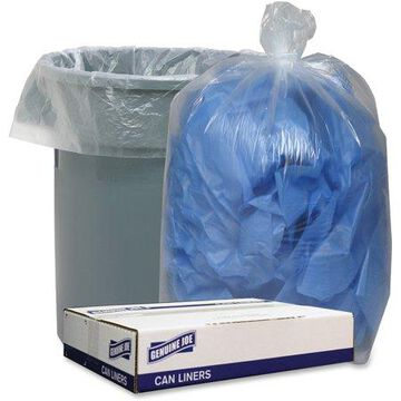 Genuine Joe, GJO29131, Clear Low Density 1.4mil Liners, 100 / Carton, Clear