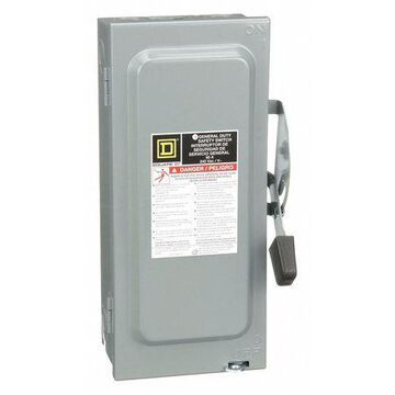 SQUARE D D322N 60 Amps AC 240VAC Single Throw Safety Switch 3PST