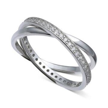 Giani Bernini Cubic Zirconia Crisscross Ring in Sterling Silver, Created for Macy's