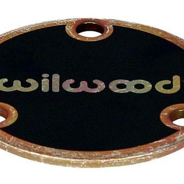 Wheel Hub Dust Cap - Starlite 5 - 3 x 2.00 in Bolt Pattern - Wilwood Logo - Steel - Zinc Oxide - Each
