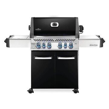 Prestige 500 Grill On Cart w/ IR Rotisserie & Side Burner, Black, NG