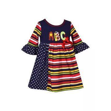 Bonnie Jean Girls' Baby Girls Abc Dress - -