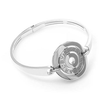 Bvlgari Cerchi White Gold Round Shield Bangle Bracelet