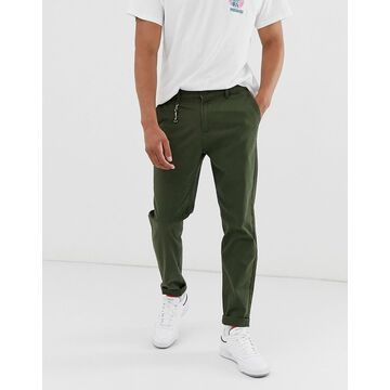 Jack & Jones Intelligence skate fit chino in green