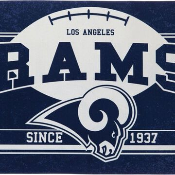 Evergreen Los Angeles Rams Linen Estate Flag