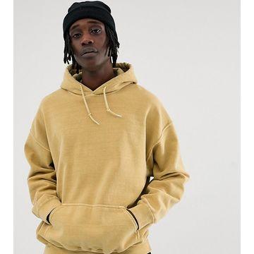 Reclaimed Vintage inspired oversized hoodie in yellow overdye