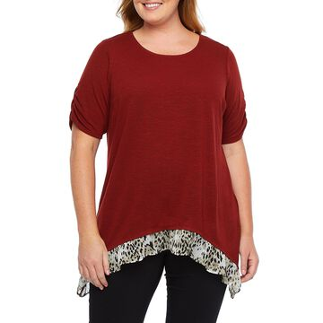Alyx Twofer Knit Blouse - Plus