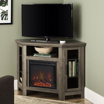 Walker Edison Corner Fireplace TV Stand for TV's up to 52