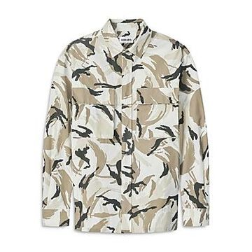 Kenzo Cotton Blend Ripstop Camouflage Over Shirt