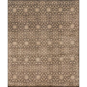ESSXEQ-04ELMW96D6 9 ft. 6 in. x 13 ft. 6 in. Transitional Essex Collection Hand Knotted Wool Rug - Elmwood