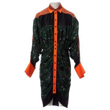 Marco De Vincenzo Green Silk Dresses