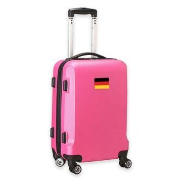 Denco Mojo Germany Flag 21-Inch Hardside Spinner Carry-On Luggage in Pink