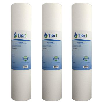 Tier1 DGD-5005-20 5 Micron 20 x 4.5 Spun Wound Polypropylene Sediment Hydronix SDC-45-2005 Comparable Replacement Water Filter 3-Pack
