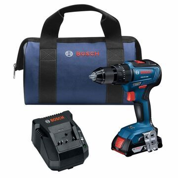 Bosch 1/2-in 18-Volt Variable Speed Brushless Cordless Hammer Drill (1-Battery Included) in Blue