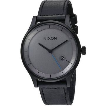Nixon Unisex The Station Leather All Black