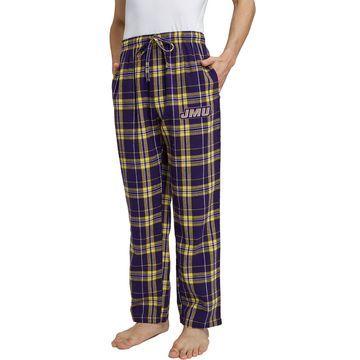 Concepts Sport Men's James Madison Dukes Purple/Gold Hillstone Flannel Sleep Pants