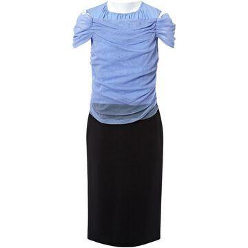 Nina Ricci Blue Cotton Dresses