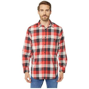 Filson Twin Lakes Sport Shirt (Red/Black/Cream Plaid) Men's Long Sleeve Button Up