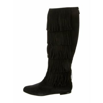Irving Suede Boots w/ Tags Black